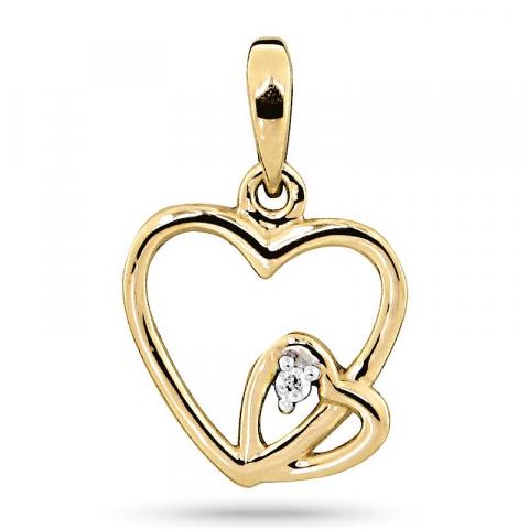 Hauska sydän riipus 9 karaatti kultaa