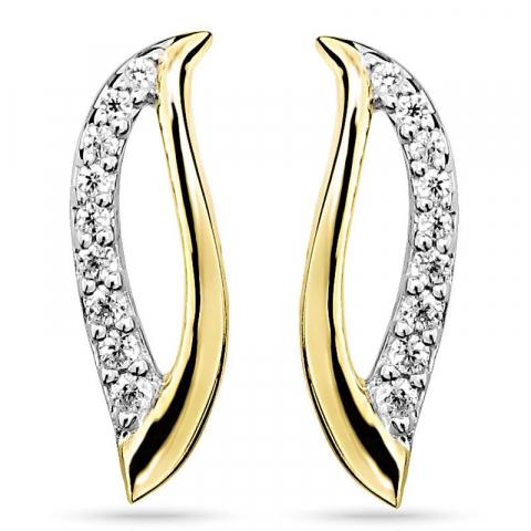 Kauniita zirkoni korvarenkaat  hopea kanssa kullattu hopea