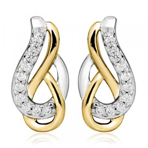Hienot zirkoni korvarenkaat  hopea kanssa kullattu hopea