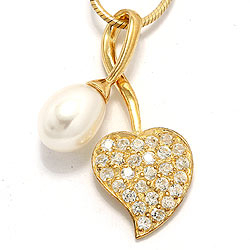 Sydän helmi riipus  kullattua hopeaa