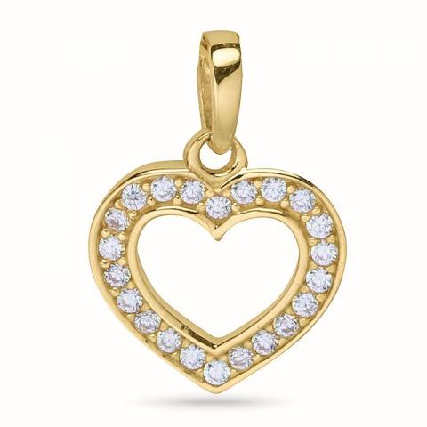 Hieno sydän riipus  9 karaatin kultaa