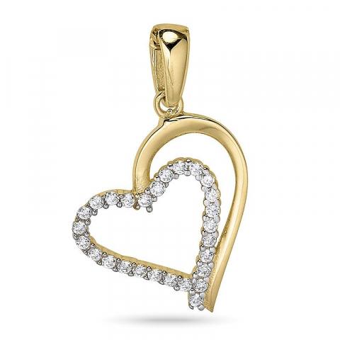 Sydän riipus  9 karaatin kultaa