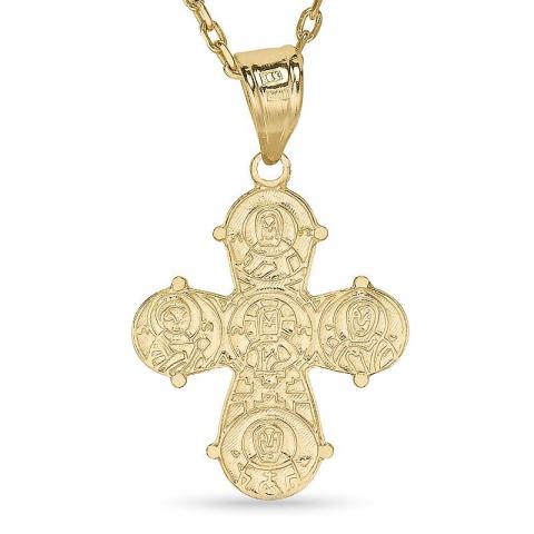 dagmarristi kaulaketju kullattua hopeaa riipus 8 karaatin kultaa