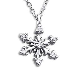Lumihiutale kaulaketju  hopeaa riipus hopea