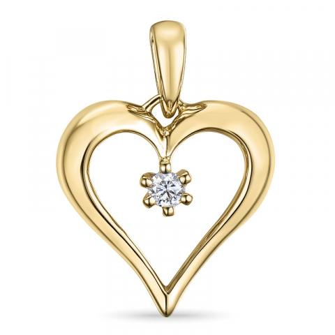 timantti riipus 14 karaatti kultaa 0,07 ct