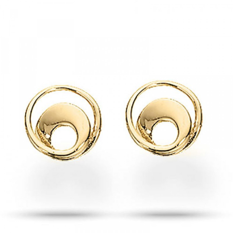 Moderneja Scrouples pyöreitä korvarenkaat  8 karaatin kultaa