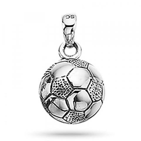 Tyylikäs Scrouples jalkapallo riipus  hopeaa