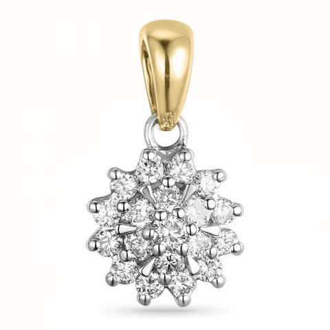 timanttiriipus 14 karaatti kulta ja valkokultaa 0,26 ct