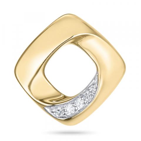 Timanttiriipus 14 karaatti kulta ja valkokultaa 0,05 ct