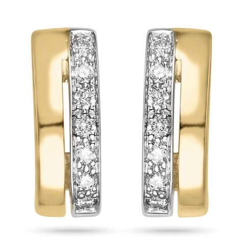 hienot briljanttikorvakorut 14 karaatin kultaa ja valkokul kanssa timantti