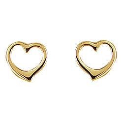 Aagaard sydän korvarenkaat  8 karaatin kultaa