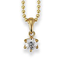 Aagaard riipus  8 karaatin kultaa Kullattu hopeakaulaketju valkoinen zirkoni