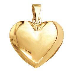 Aagaard sydän riipus  kullattua hopeaa