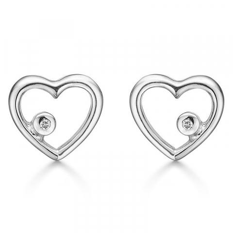 kivoja Støvring Design korvarenkaat  rodinoitua hopeaa valkoinen timantti