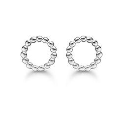 Støvring design pyöreitä korvarenkaat  rodinoitua hopeaa