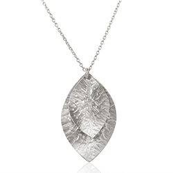 Lehti kaulaketju  hopeaa riipus hopea