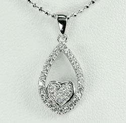 Hauska sydän riipus  hopeaa