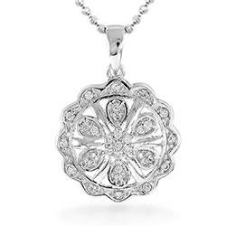 Kaunis pyöreä riipus  hopeaa