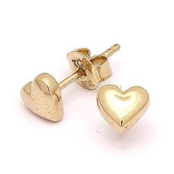 Elegantti sydän korvarenkaat  14 karaatin kultaa