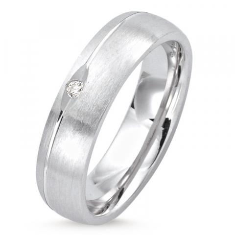 elegantti kaunis sormus rodinoitua hopeaa