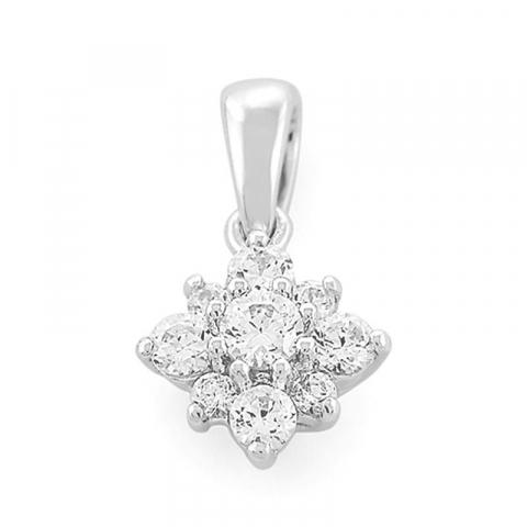 Hauska neliskulmainen timanttiriipus 14 karaatti kultaa 0,33 ct