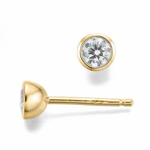 Hienot timanttikorvakorut 14 karaatin kultaa kanssa timanttia
