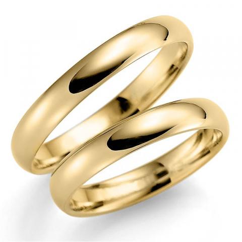 Sileät 3,5 mm vihkisormusta 14 karaatin kultaa - setit