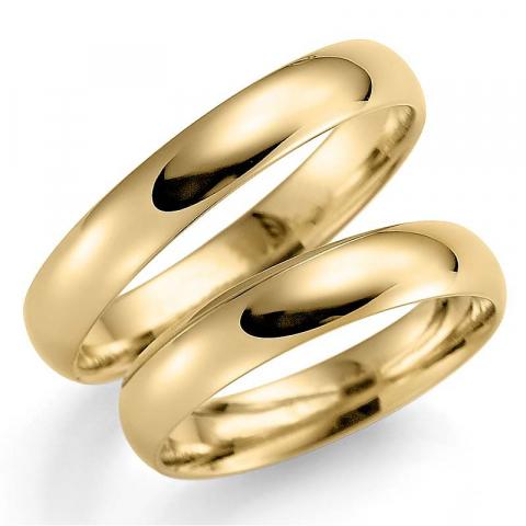 Upeita 4 mm vihkisormusta 9 karaatin kultaa - setit