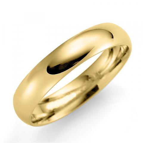 Upea 4 mm vihkisormus 9 karaatin kultaa