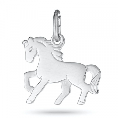 Hauska hevosia riipus  rodinoitua hopeaa