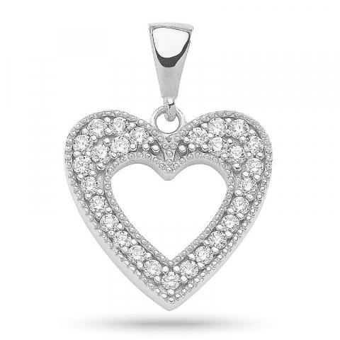 Koruja verkossa: sydän zirkoni riipus  hopeaa