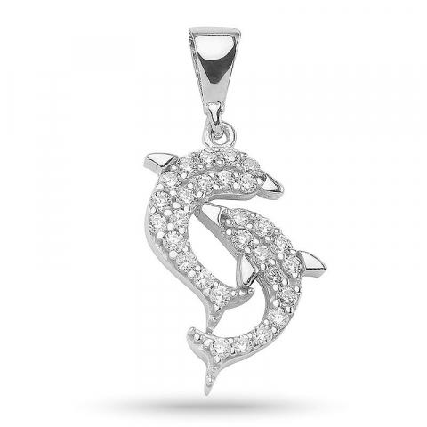 Elegantti delfiini riipus  hopeaa