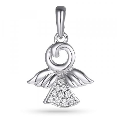 Hauska enkeli zirkoni riipus  hopeaa
