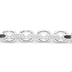 Moderneja ankkurikaulaketju hopeaa 45 cm x 5,6 mm