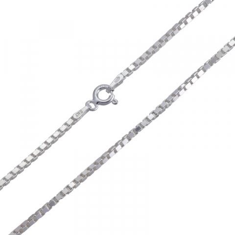 Upea venetsiakaulaketju hopeaa 42 cm x 1,6 mm