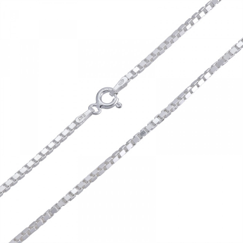 Elegantti venetsiakaulaketju hopeaa 50 cm x 1,6 mm