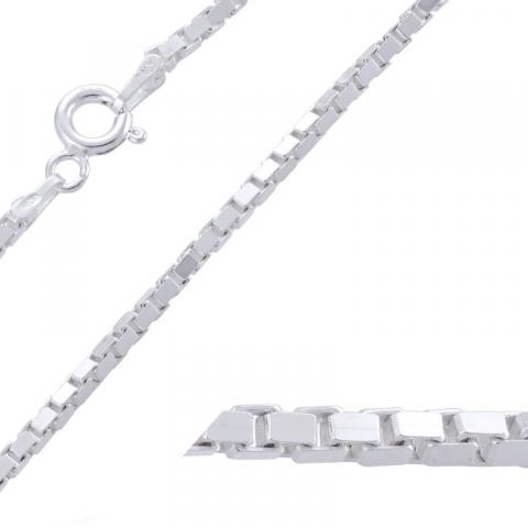 Moderneja venetsiakaulaketju hopeaa 42 cm x 1,8 mm