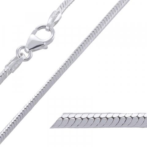 Tyylikäs käärmekaulaketju hopeaa 42 cm x 1,6 mm