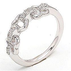 Kiva sormus rodinoitua hopeaa