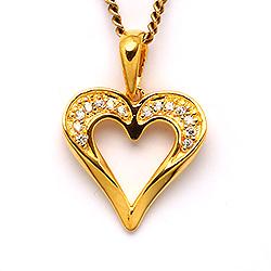 Sydän kullattua riipus  kullattua hopeaa