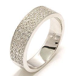 Leveä zirkoni sormus hopeaa