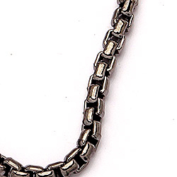 BNH venetsiakaulaketju musta rodinoitu hopea 42 cm x 2,0 mm