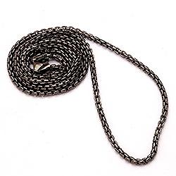 BNH venetsiakaulaketju musta rodinoitu hopea 60 cm x 2,0 mm