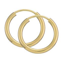 15 mm BNH creole korvakorut 14 karaatin kultaa