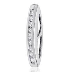 Hieno timantti riipus 14 karaatti valkokultaa 0,14 ct