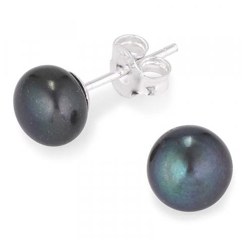 7-7,5 mm helmi nappikorvakorut  hopeaa