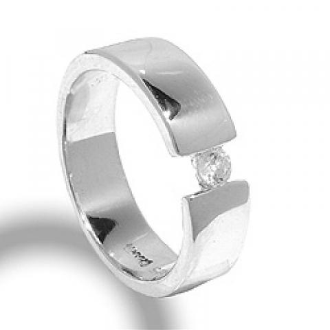 Elegantti zirkoni sormus hopeaa