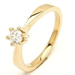 timantti kulta sormus 14 karaatin kultaa 0,30 ct